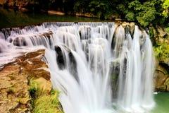 最大的瀑布在台北,台湾 图库摄影