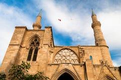 最大的爱迪尔内清真寺selimiye火鸡 尼科西亚 塞浦路斯 免版税库存图片