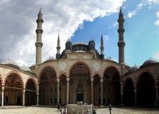 最大的爱迪尔内清真寺selimiye火鸡 免版税库存照片