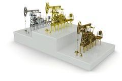 最大的石油生产井赢利地区 库存照片