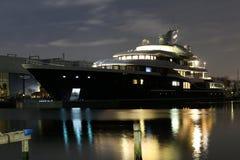 最大的私有修造船在荷兰 库存图片