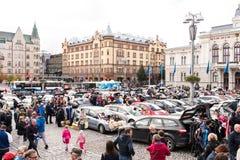 最大的跳蚤市场在坦佩雷,芬兰,发生了2017年9月17日 图库摄影