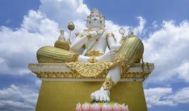 最大的Brahma,创作的印度上帝,位于Samanrattanaram寺庙 chacherngsao,泰国 免版税库存照片