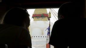 最大的Stupa Boudhanath在加德满都谷,尼泊尔 影视素材