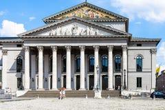 最大约瑟夫普拉茨的歌剧院在慕尼黑 免版税库存照片