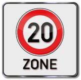 最大速度20区域 免版税图库摄影