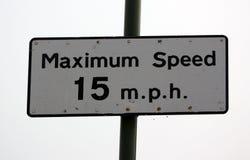 最大速度15 m P H 库存照片