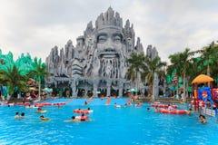 最好在南越水和游乐园Suoi连队 免版税库存图片