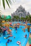 最好在南越水和游乐园Suoi连队 免版税库存照片