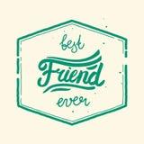 最好的朋友标签 免版税库存图片