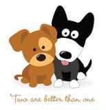 最好的朋友-两只小狗 库存图片