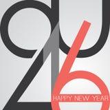 最好祝愿-抽象减速火箭的样式新年快乐贺卡或背景,创造性的设计模板- 2016年 免版税库存图片