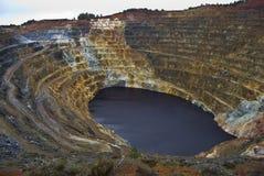 最小值露天开采矿硫铁矿 库存照片