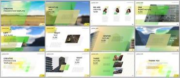 最小的介绍设计,股份单传染媒介模板有五颜六色的梯度几何背景 绿色设计 皇族释放例证