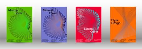 最小的传染媒介盖子设计 免版税库存图片