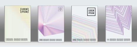 最小的几何盖子 海报设计的传染媒介抽象线样式 向量例证