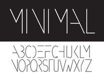 最小的大写字体标志象 图库摄影