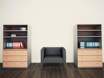 最小的现代内部扶手椅子办公室 免版税库存图片