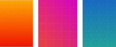 最小的盖子或小册子传染媒介模板集合 半音梯度明亮的背景 飞行物,传单,横幅,网络设计墙纸 皇族释放例证