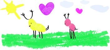 最愉快的鹿 免版税库存图片
