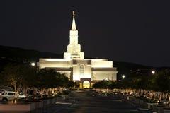 最新天圣徒的寺庙,丰富多样,犹他 库存照片
