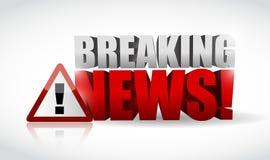 最新新闻警报信号例证设计 免版税库存照片