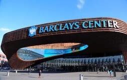 最新的体育比赛场所巴克莱在布鲁克林,纽约集中。 库存照片