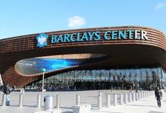 最新的体育比赛场所巴克莱在布鲁克林,纽约集中 库存图片