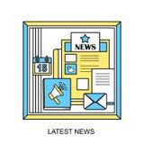 最新的新闻概念 免版税库存图片