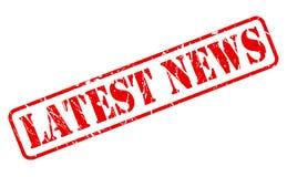 最新的新闻红色邮票文本 免版税库存照片