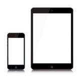 最新的iPad和iPhone 免版税库存图片