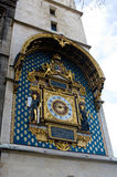 最旧的公开时钟在巴黎, Palais de Justice 图库摄影