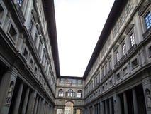最旧的博物馆的画廊乌菲兹美术馆一 库存图片