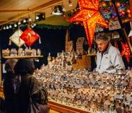 最旧的圣诞节市场在欧洲-史特拉斯堡,阿尔萨斯, Fran 库存图片