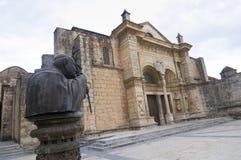 最旧的大教堂在美洲 免版税图库摄影