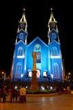 最旧的天主教在Ba Ria市-越南 免版税库存照片