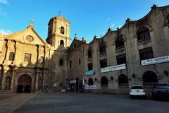 最旧的教会在马尼拉菲律宾 免版税库存照片