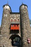 最旧的荷兰城市门Helpoort在马斯特里赫特 免版税库存照片