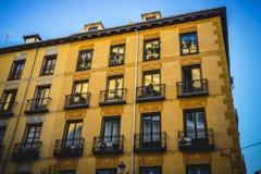 最旧的街道在西班牙的首都,市马德里,它的a 图库摄影