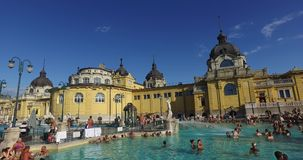最旧的Szechenyi医药浴是最大的医药浴在欧洲 影视素材