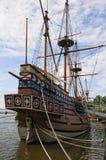 最早期的欧洲移居者在弗吉尼亚美国建立他们的第一殖民地詹姆斯河的历史的詹姆斯敦 图库摄影