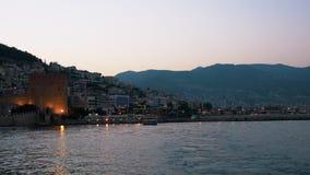 最普遍的旅游目的地的土耳其一在土耳其里维埃拉 位于安塔利亚红色城堡省  影视素材