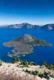 最深和最蓝色的湖在美国 库存图片