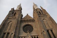 最突出的天主教会在雅加达,印度尼西亚 免版税库存照片