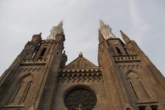最突出的天主教会在雅加达,印度尼西亚 库存图片