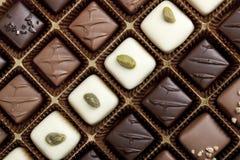 最细致配件箱的巧克力 免版税库存照片