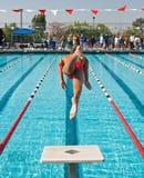 最终游泳 免版税库存图片