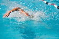 最终游泳 库存照片