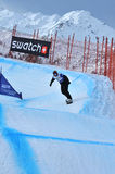 最终snowboardcross 免版税库存图片