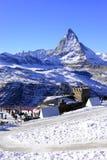 最美丽的瑞士阿尔卑斯,马塔角在策马特 库存照片